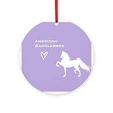 American Saddlebred Ornament (Round)
