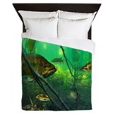 Bass fishing Luxe Full/Queen Duvet Cover