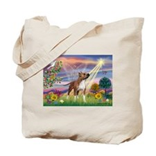 Cloud Angel & Amstaff Tote Bag