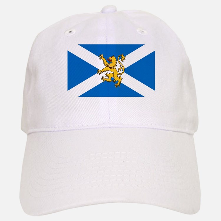 flag of lion rampant baseball cap scotland football rugby hat
