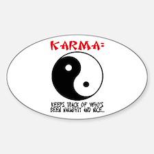 KARMA - Keeps track.. Oval Decal