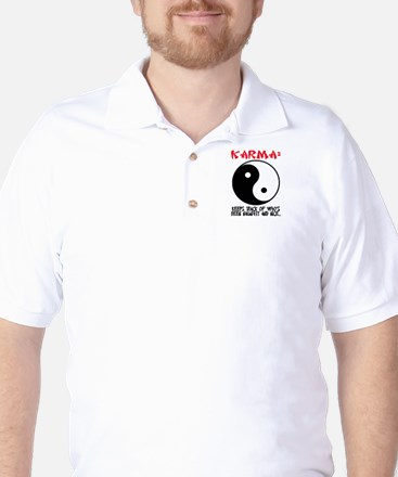 KARMA - Keeps track.. Golf Shirt