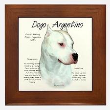 Dogo Argentino Framed Tile