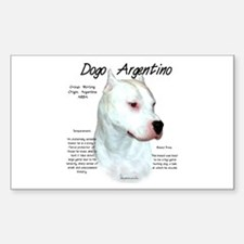 Dogo Argentino Rectangle Decal