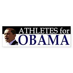 Athletes for Obama (bumper sticker)