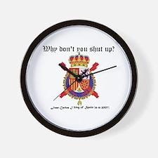 Wall Clock  coat of arms