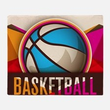 Basketball Sport Ball Game Cool Throw Blanket