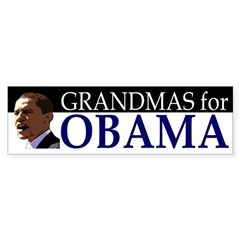 Grandmas for Obama bumper sticker