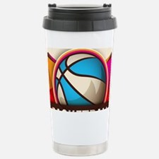 Basketball Sport Ball G Stainless Steel Travel Mug