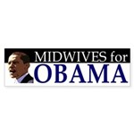 Midwives for Obama bumper sticker
