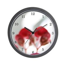 """""""White and Red"""" Wall Clock"""