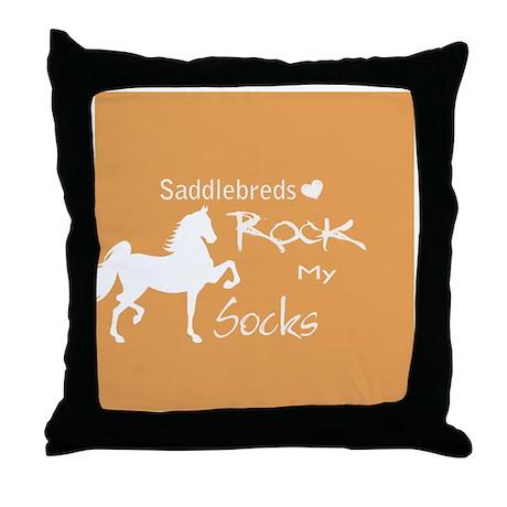 Saddlebreds Rock My Socks Throw Pillow