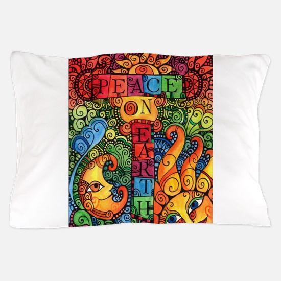 Peace on Earth Sun and Moon Pillow Case