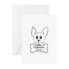 Chihuahua Sketch- Bone & Bowtie Chi Lover Greeting