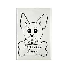 Chihuahua Sketch- Bone & Bowtie Chi Lover Rectangl