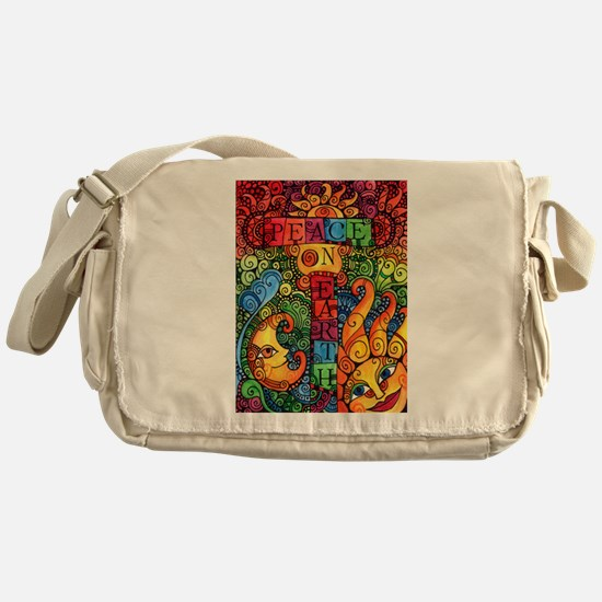 Peace on Earth Sun and Moon Messenger Bag