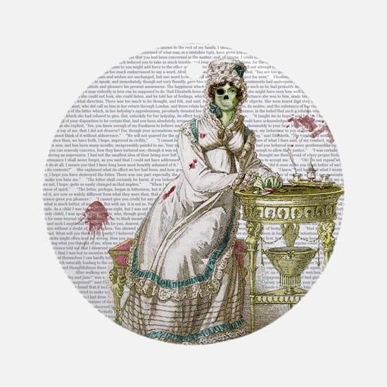 Seated Zombie Lady Round Ornament