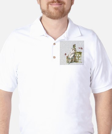 Seated Zombie Lady Golf Shirt