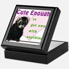 Cute Enough Ferret Keepsake Box