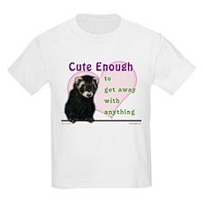 Cute Enough Ferret Kids T-Shirt