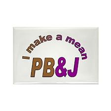 I Make a Mean PB&J Rectangle Magnet