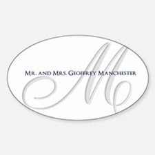 Elegant Name and Monogram Decal