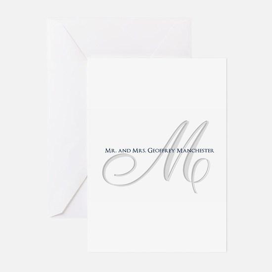 Elegant Name and Monogram Greeting Cards