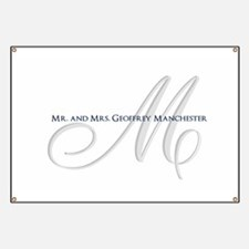 Elegant Name and Monogram Banner