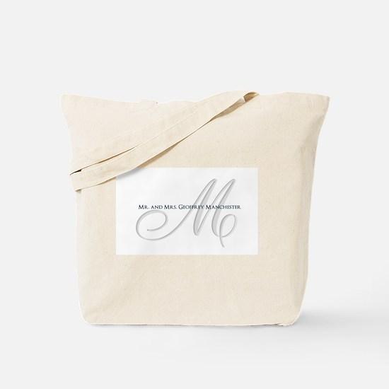 Elegant Name and Monogram Tote Bag