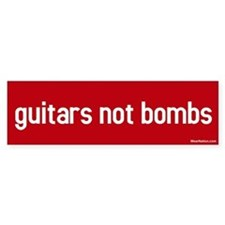 guitars not bombs Bumper Bumper Stickers