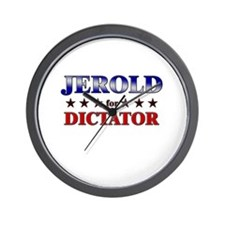 JEROLD for dictator Wall Clock