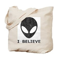 Vintage Alien (I Believe) Tote Bag
