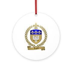 LAGACE Family Crest Ornament (Round)