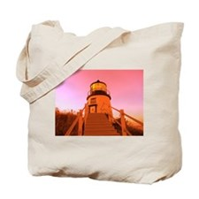 Owl's Head Light Tote Bag