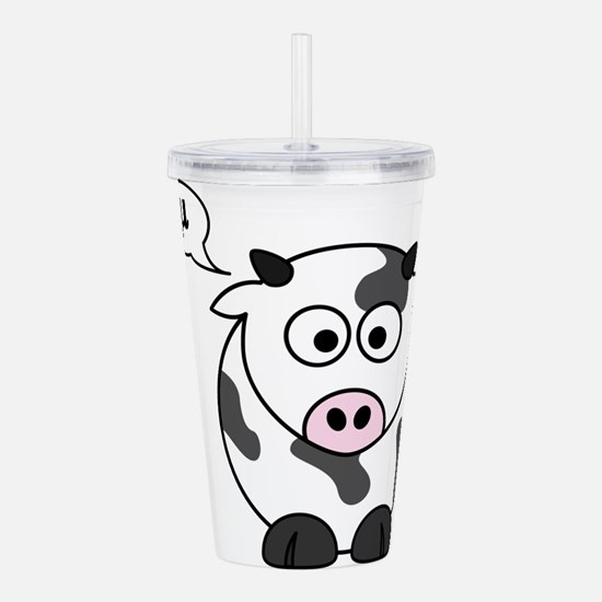 cow says mu Acrylic Double-wall Tumbler