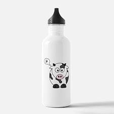 cow says mu Water Bottle