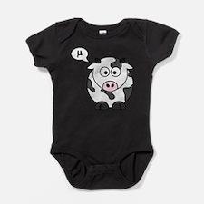 cow says mu Baby Bodysuit