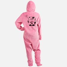 cow says mu Footed Pajamas