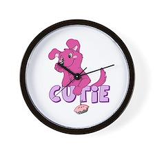 Cutie Pie-Pink Wall Clock