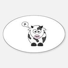 cow says mu Decal
