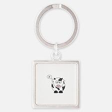 cow says mu Keychains