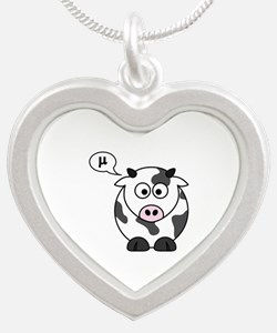 cow says mu Necklaces