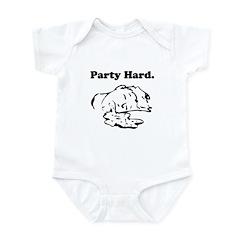 Party Hard Funny Infant Bodysuit