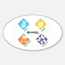 Green Party US 4 Pillars White Fade Decal