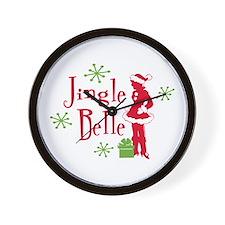 Jingle Belle 2 Wall Clock