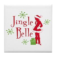 Jingle Belle 2 Tile Coaster