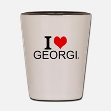I Love Georgia Shot Glass