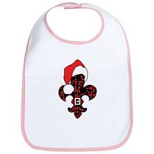 Santa Fleur de lis (red) Bib