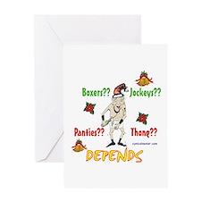 Underwear dilemma Greeting Card