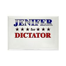 JENIFER for dictator Rectangle Magnet